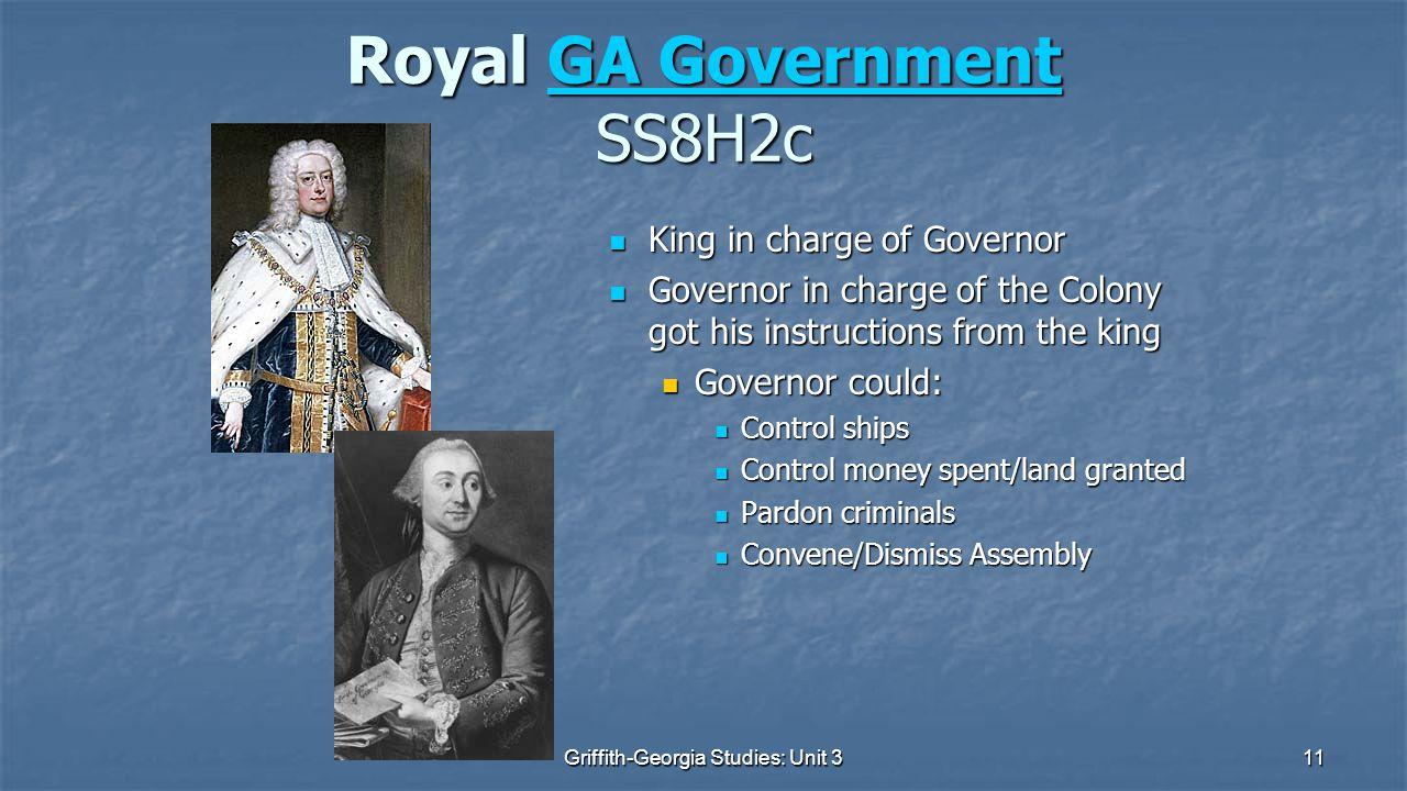 Royal GA Government SS8H2c