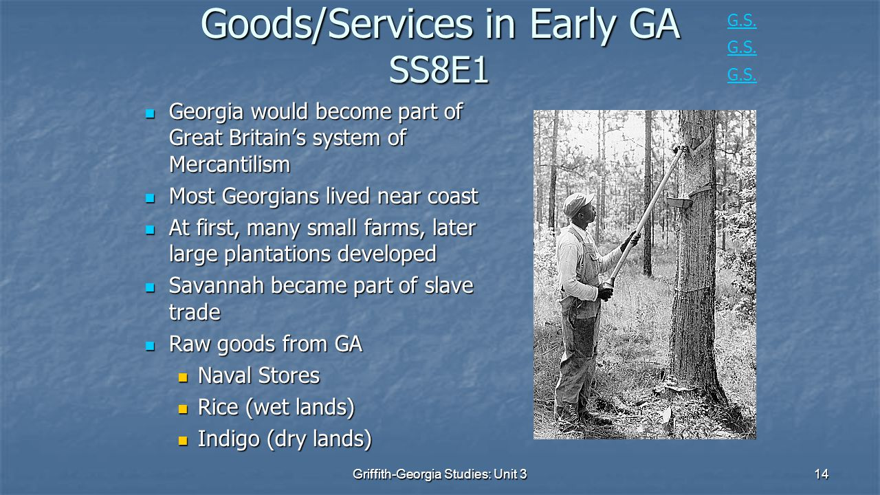 Goods/Services in Early GA SS8E1