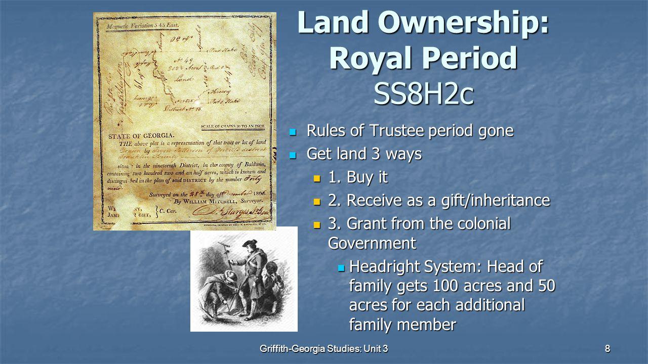 Land Ownership: Royal Period SS8H2c