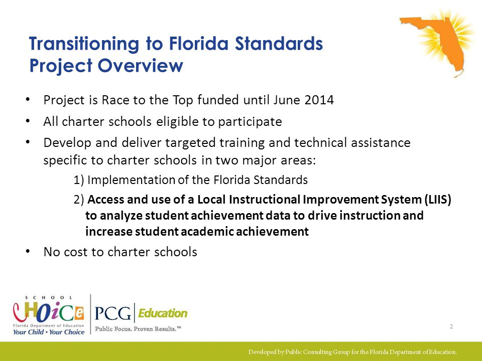 Transitioning to Florida Standards Project Overview