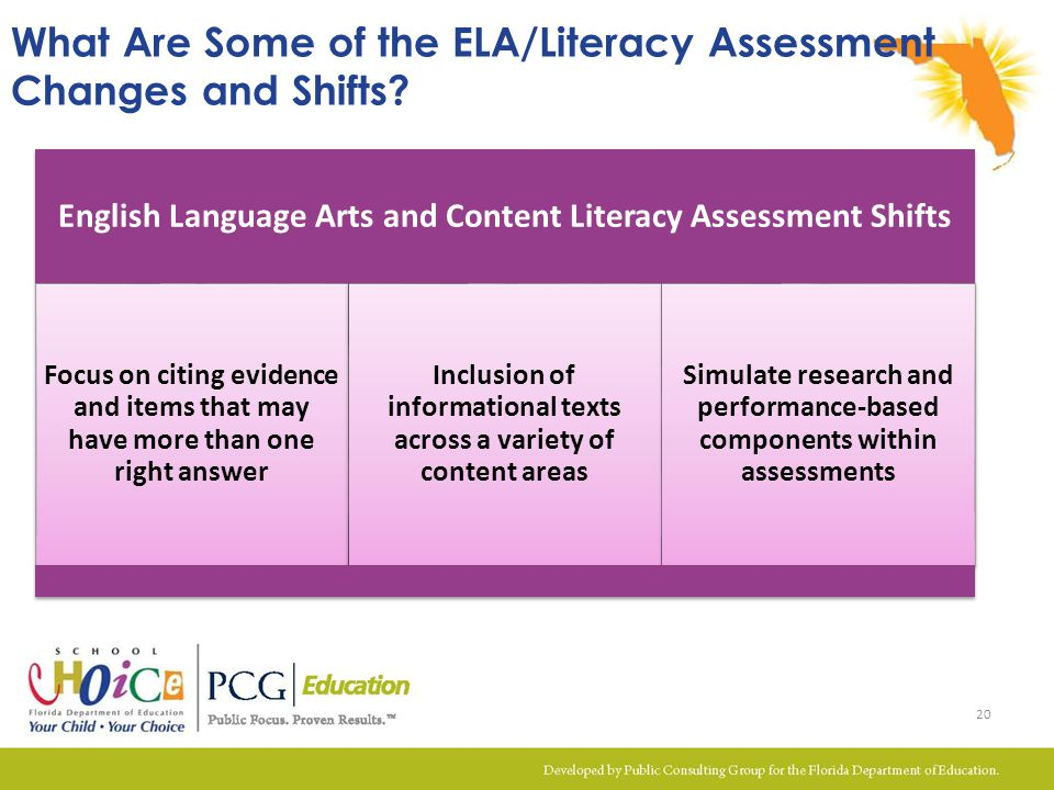 What Are Some of the ELA/Literacy Assessment Changes and Shifts