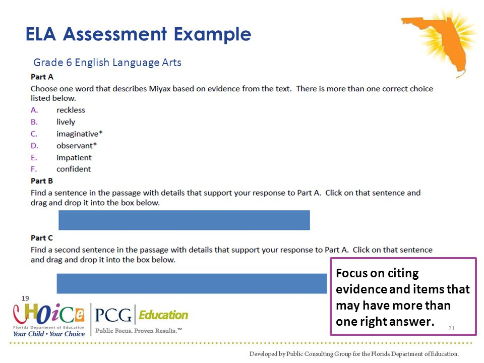 ELA Assessment Example