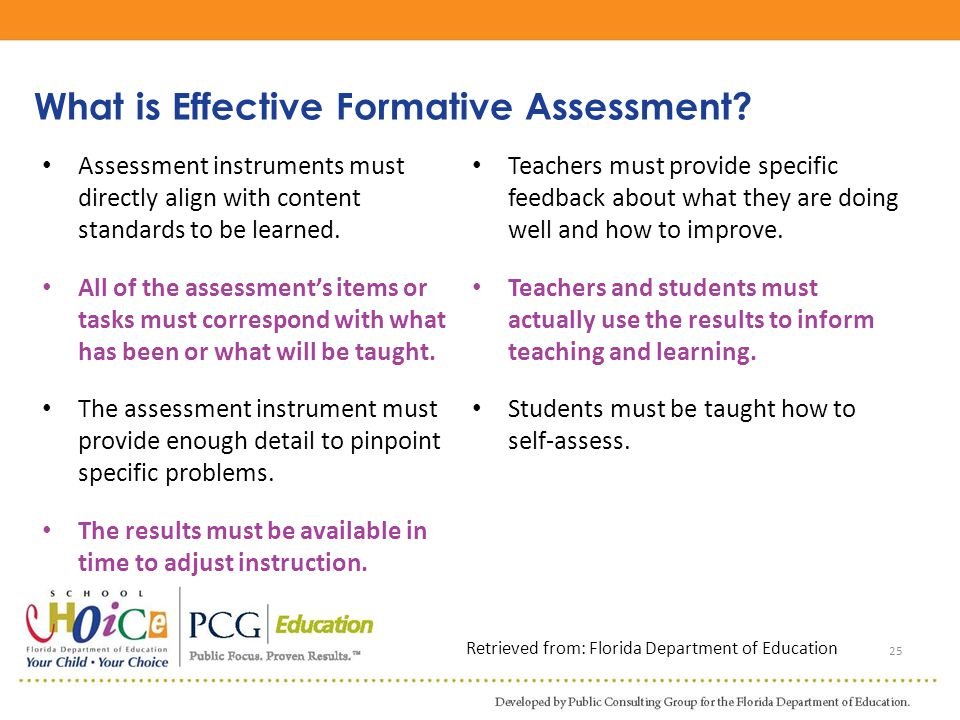 What is Effective Formative Assessment