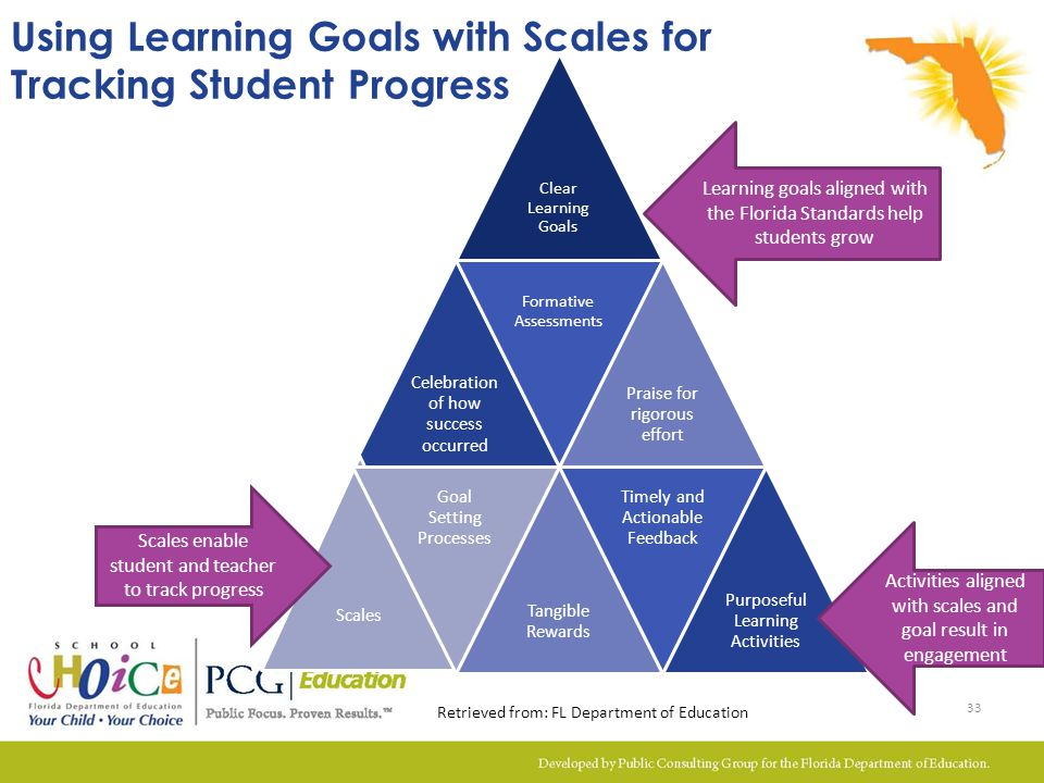 Using Learning Goals with Scales for Tracking Student Progress