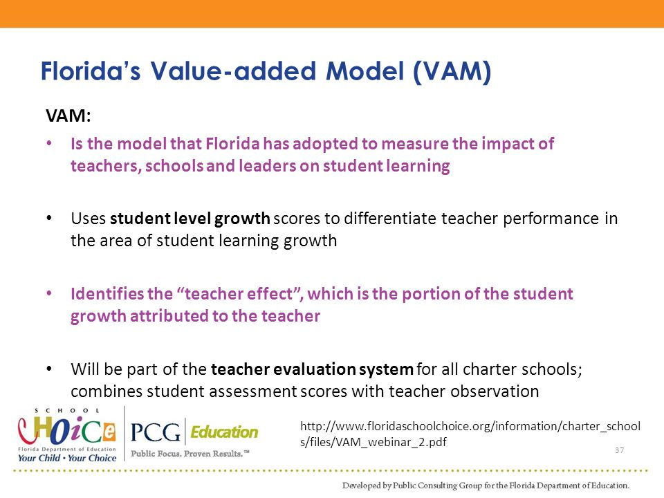 Florida's Value-added Model (VAM)