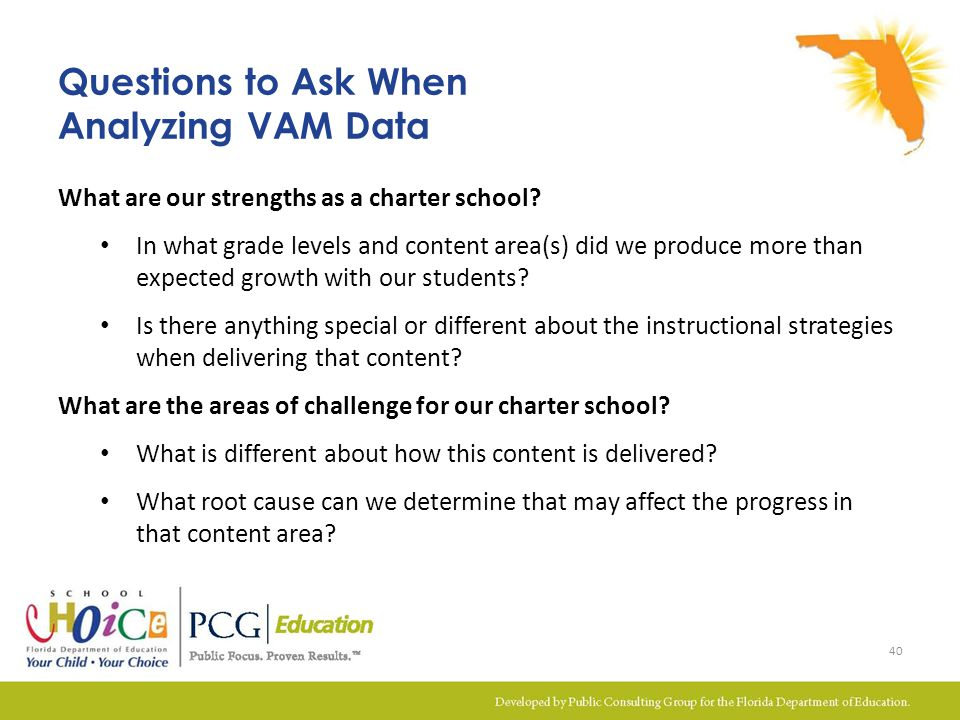 Questions to Ask When Analyzing VAM Data