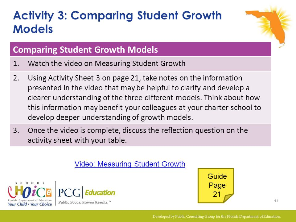 Activity 3: Comparing Student Growth Models