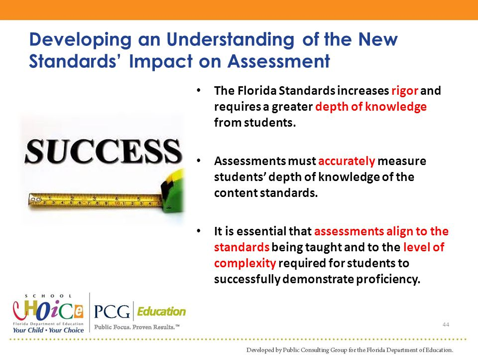 Developing an Understanding of the New Standards' Impact on Assessment