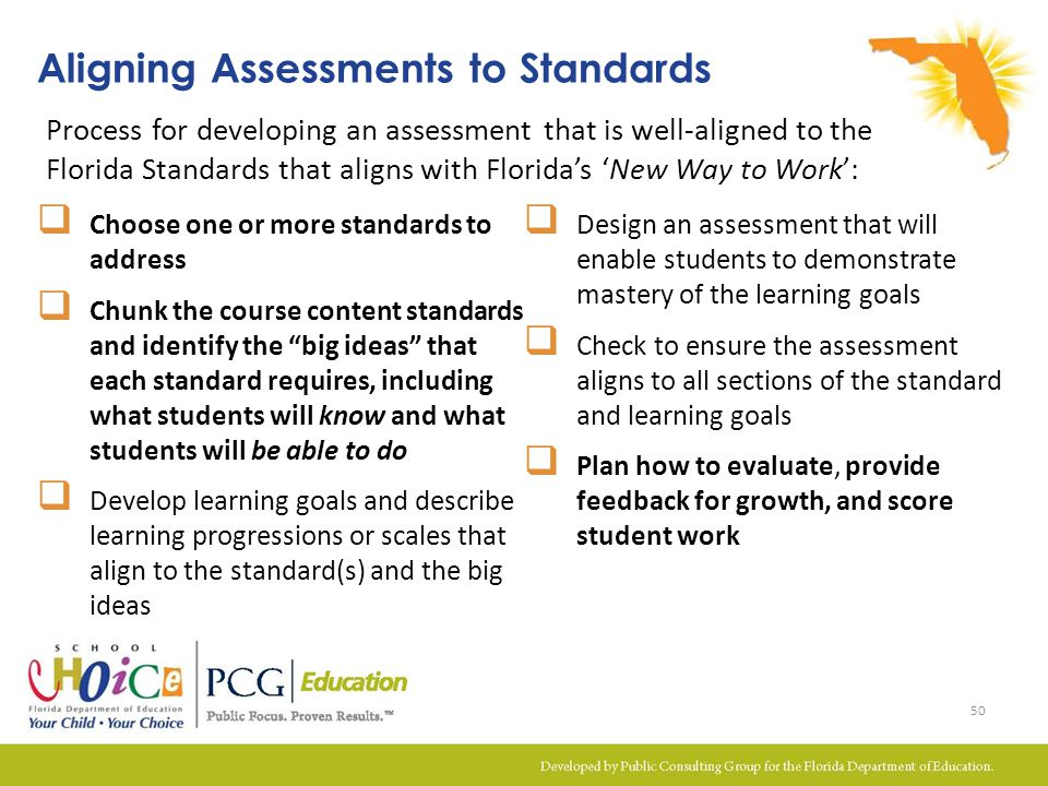Aligning Assessments to Standards