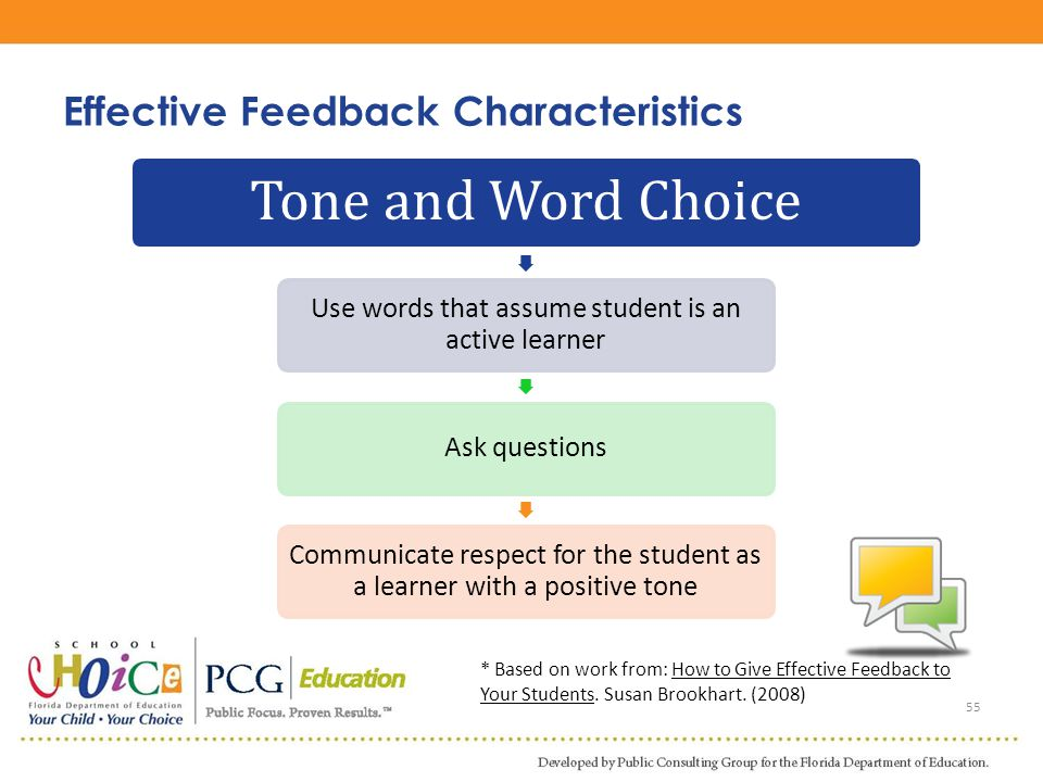 Effective Feedback Characteristics