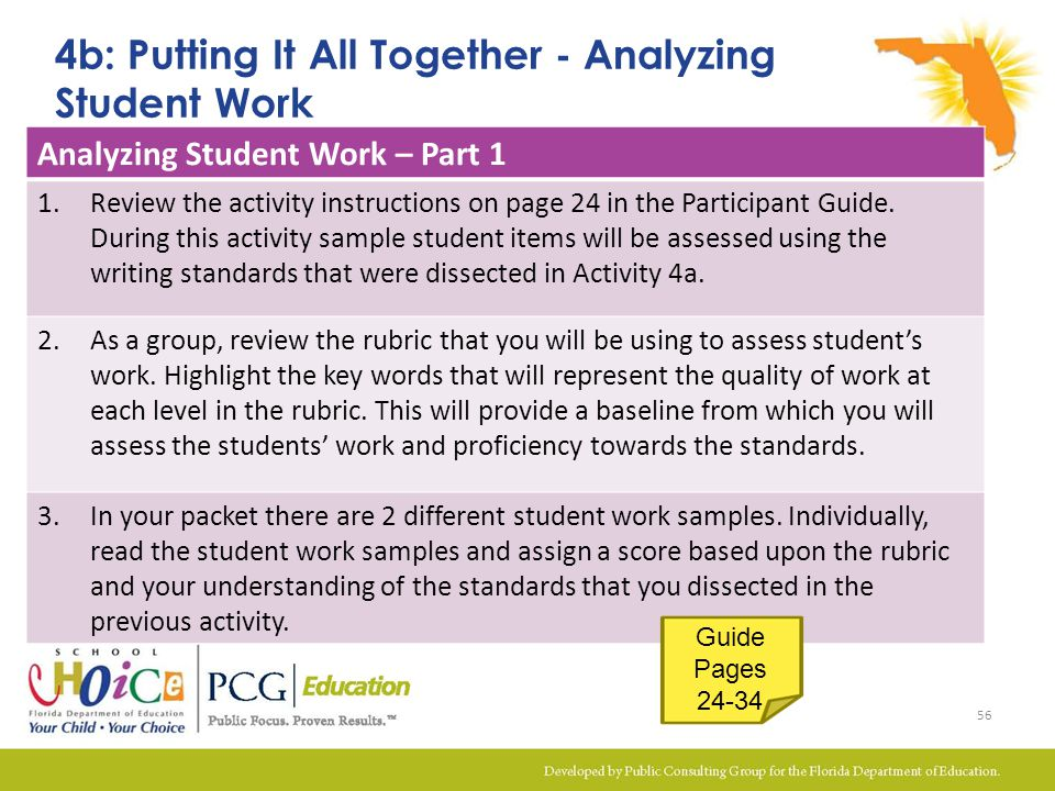 4b: Putting It All Together - Analyzing Student Work