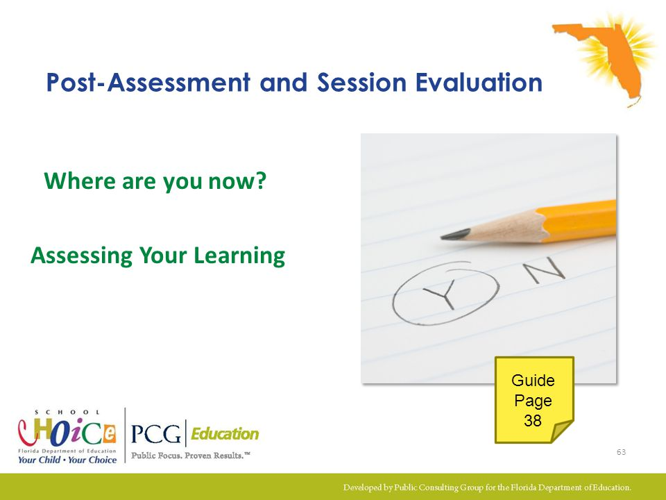 Post-Assessment and Session Evaluation