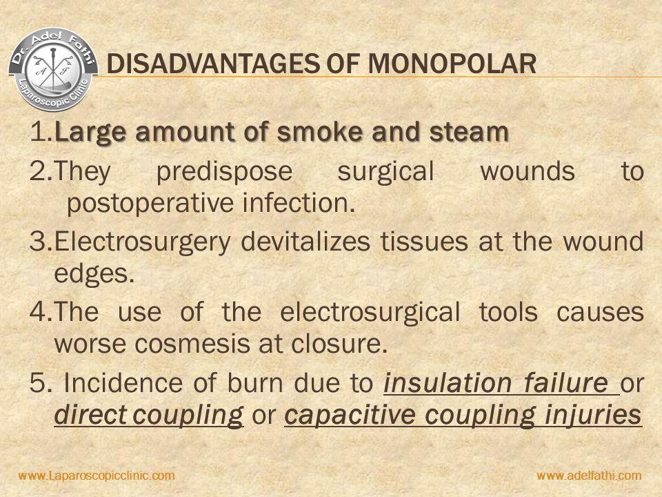 Disadvantages of monopolar