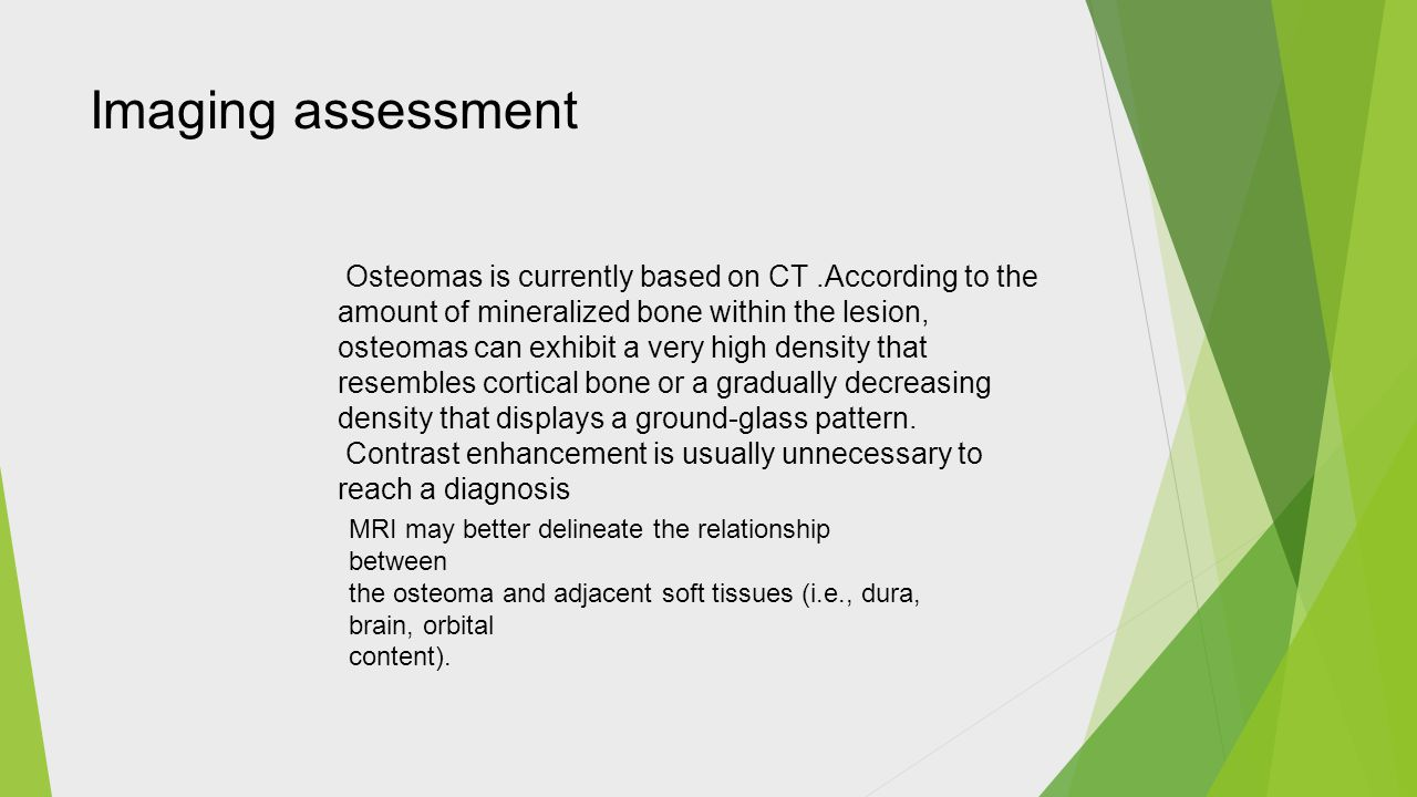 Imaging assessment