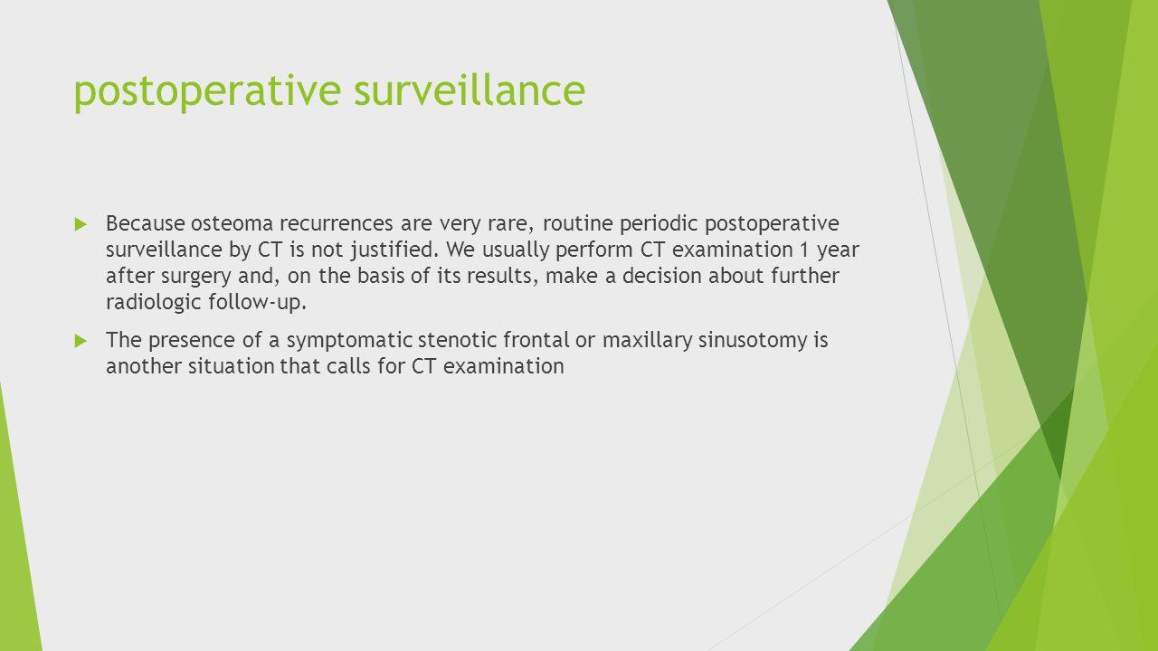 postoperative surveillance