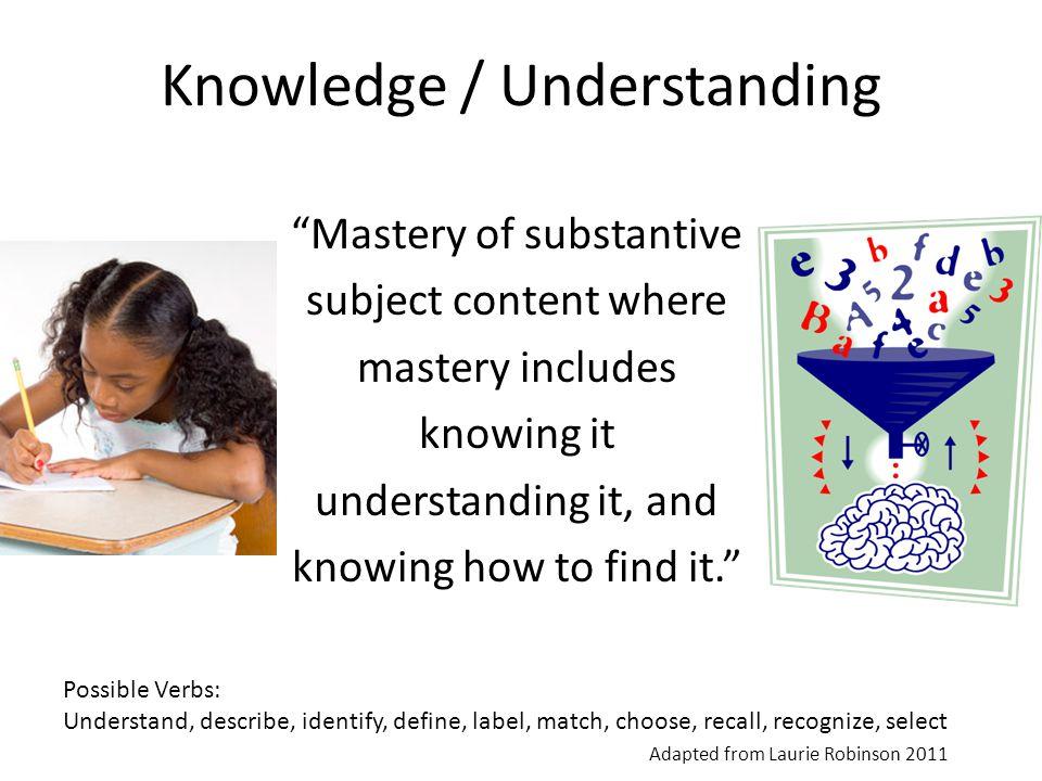 Knowledge / Understanding