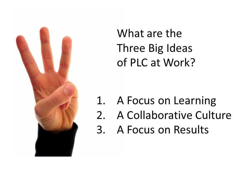 What are the Three Big Ideas of PLC at Work
