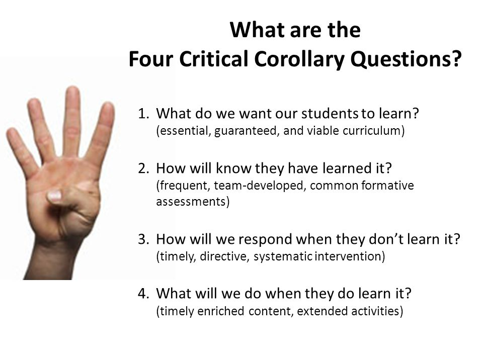 What are the Four Critical Corollary Questions