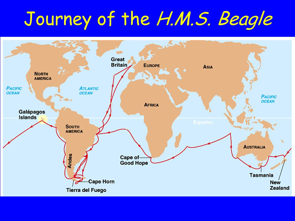 Journey of the H.M.S. Beagle