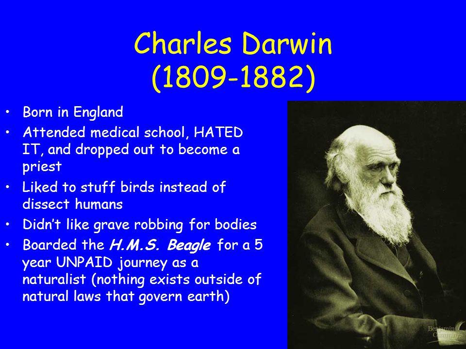 Charles Darwin (1809-1882) Born in England