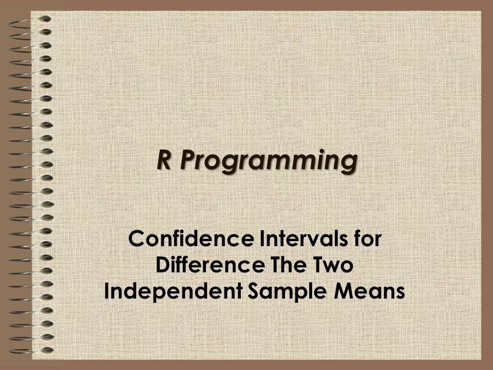 Confidence Intervals for Difference The Two Independent Sample Means