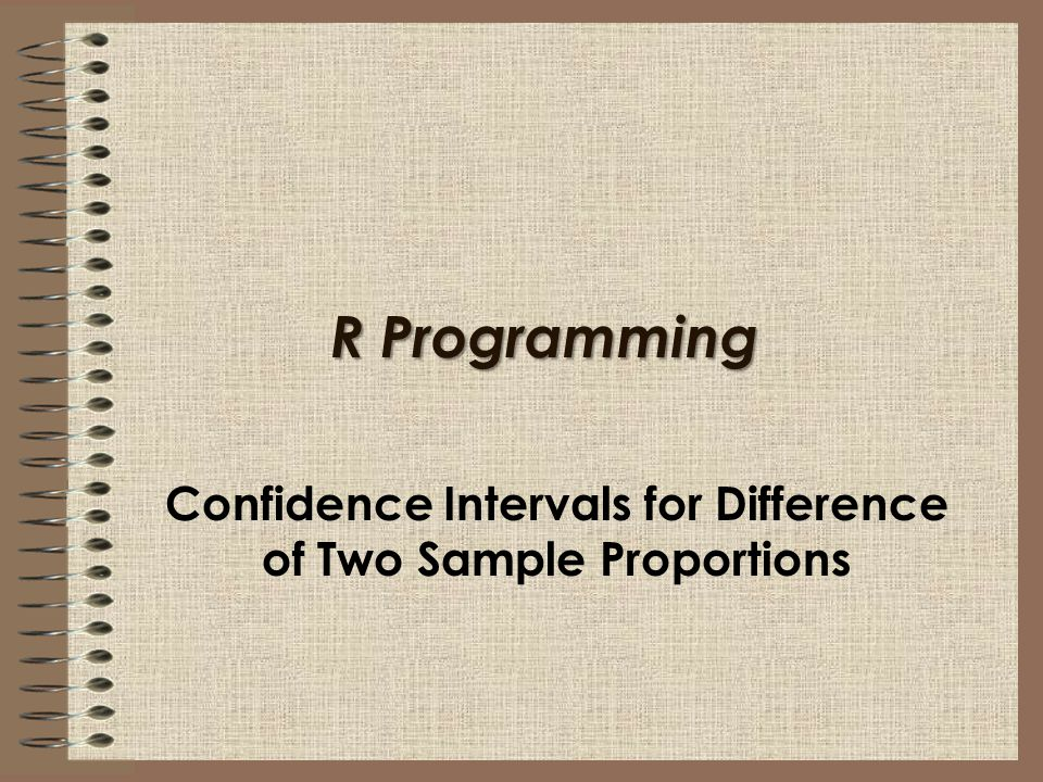Confidence Intervals for Difference of Two Sample Proportions