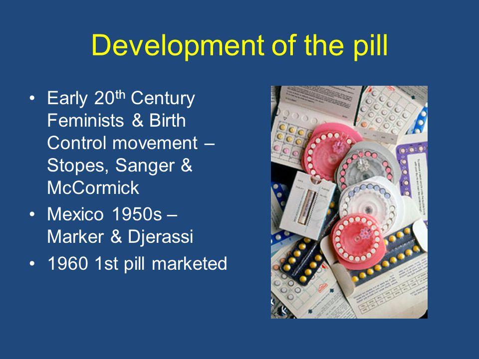 Development of the pill