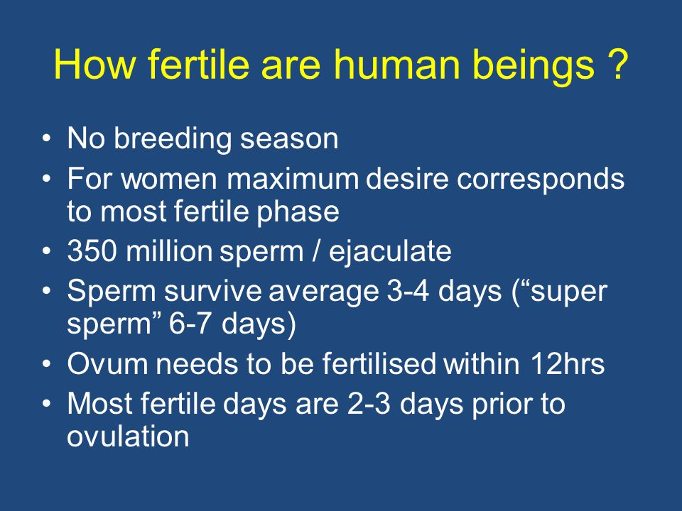 How fertile are human beings