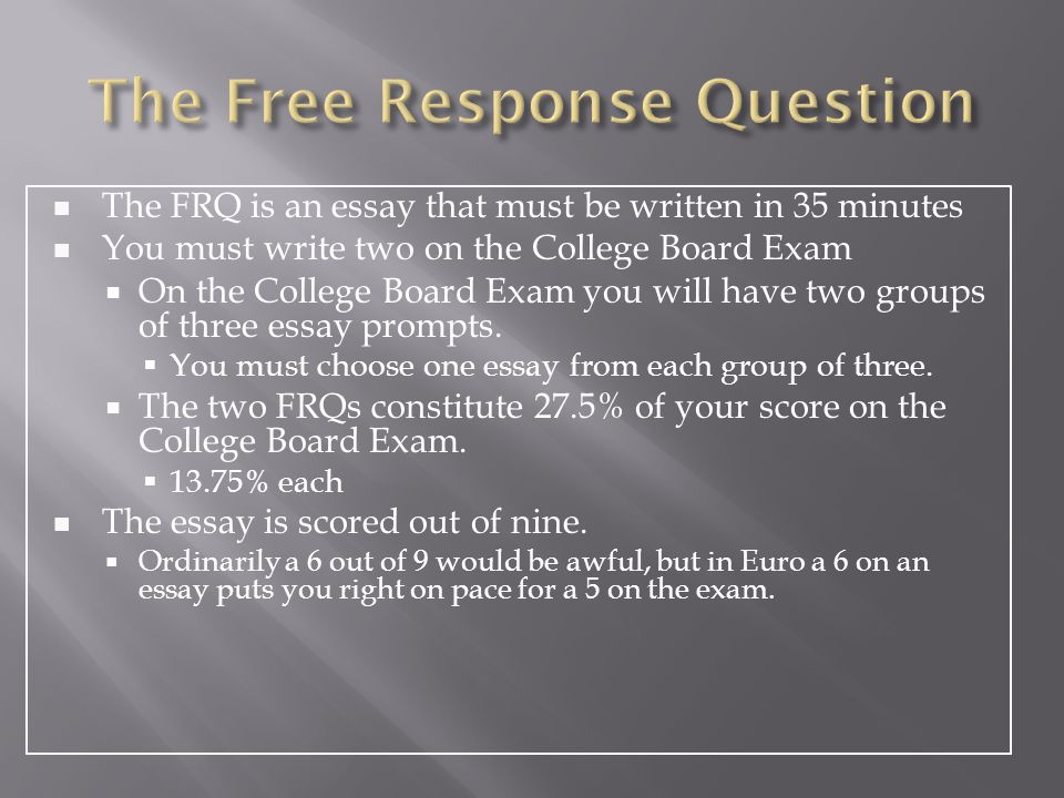 the ap european history response question ppt video online  2 the response question