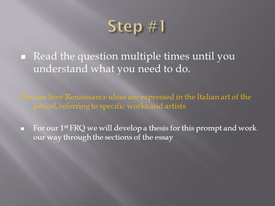the ap european history response question ppt video online  8 step