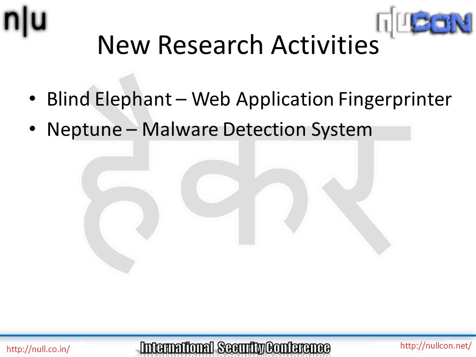 New Research Activities