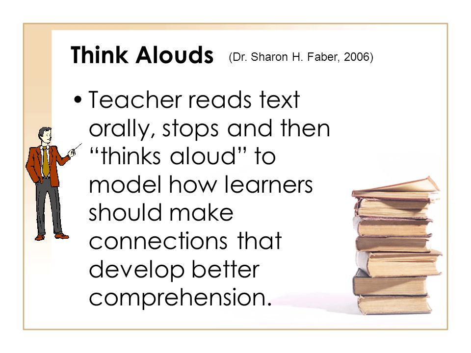 Think Alouds (Dr. Sharon H. Faber, 2006)