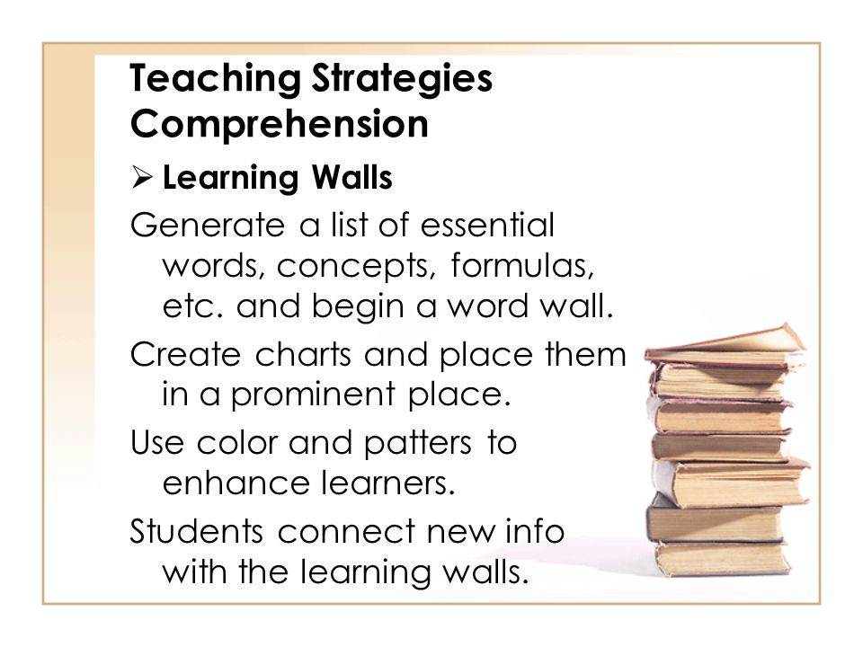 Teaching Strategies Comprehension