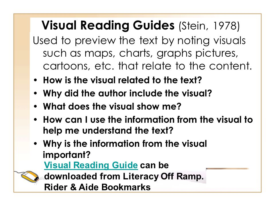 Visual Reading Guides (Stein, 1978)