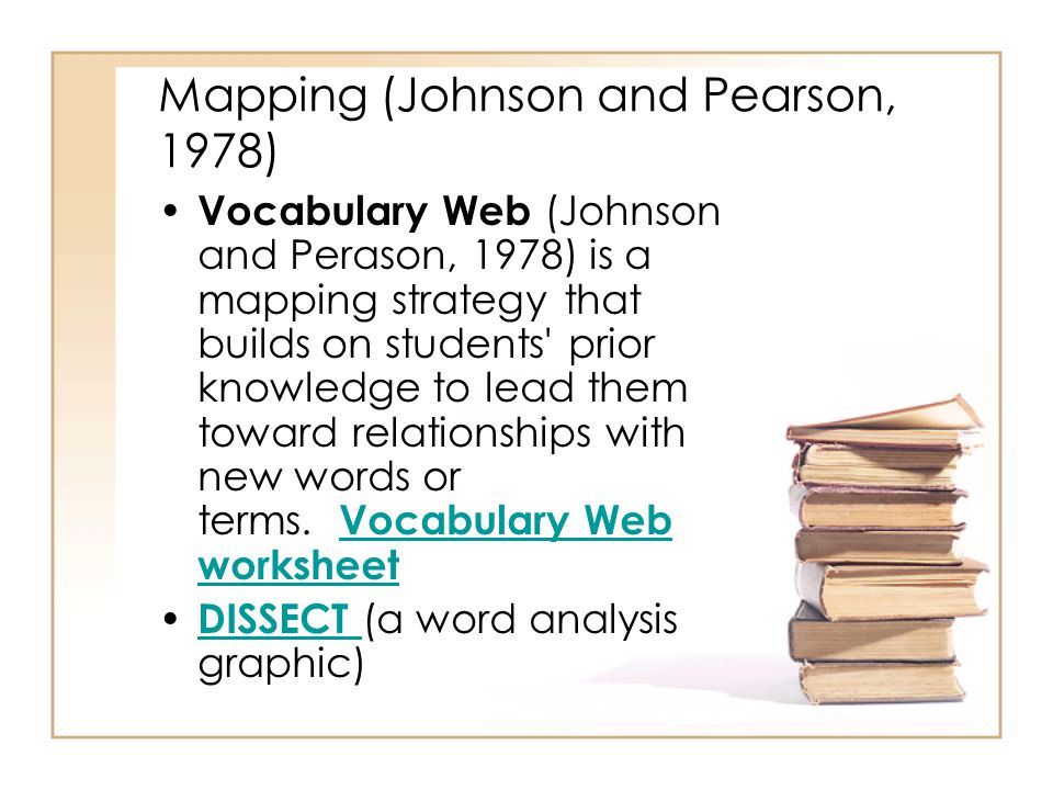 Mapping (Johnson and Pearson, 1978)