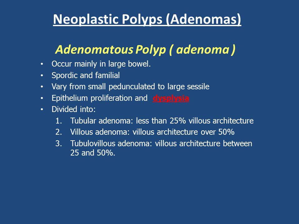 Neoplastic Polyps (Adenomas)