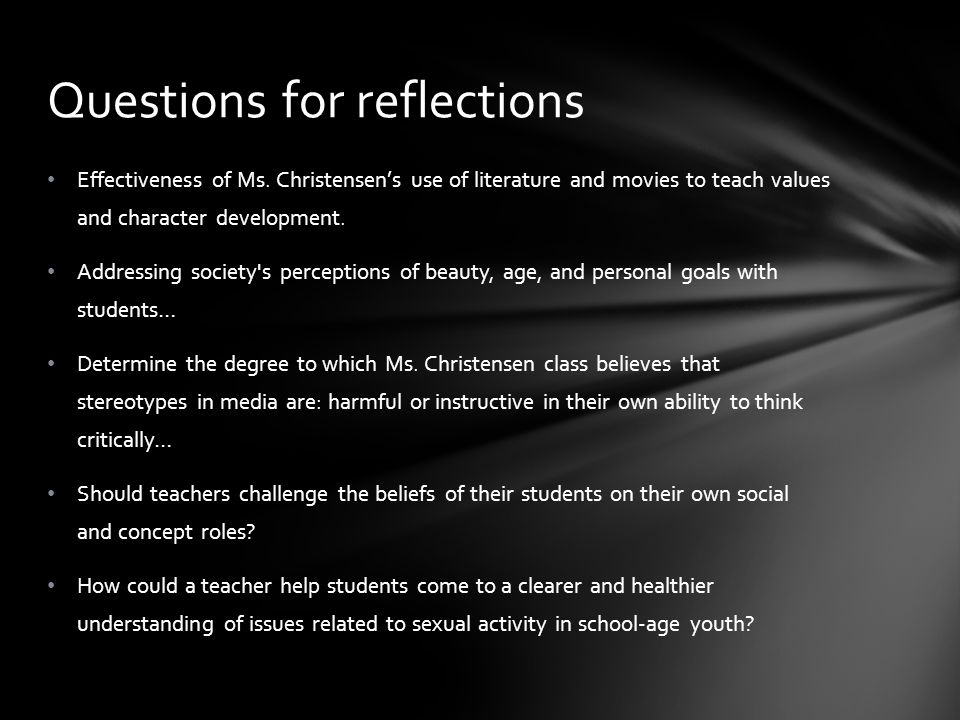 Questions for reflections
