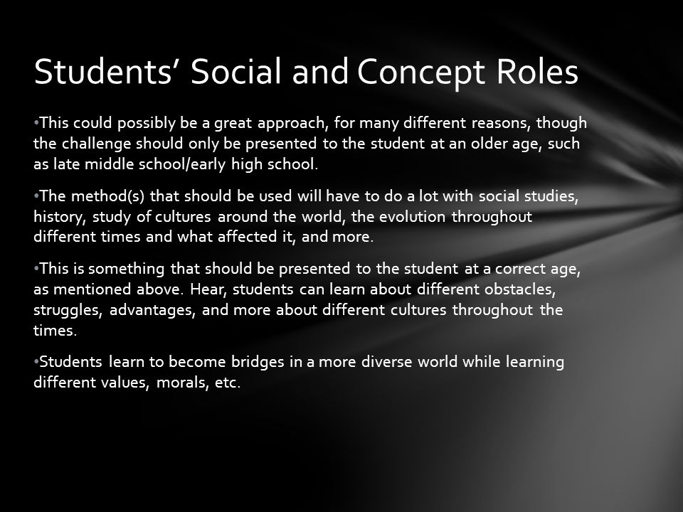 Students' Social and Concept Roles