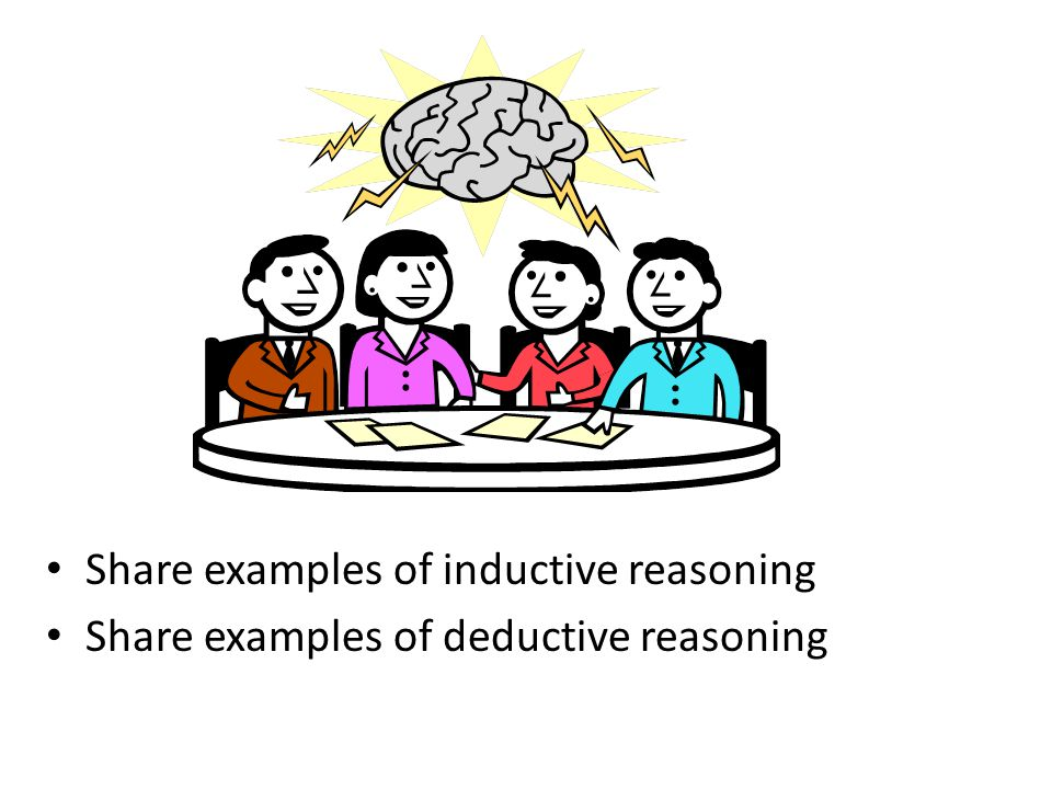 Share examples of inductive reasoning