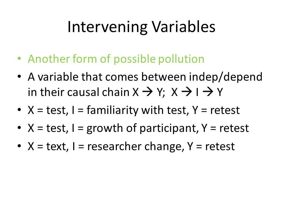 Intervening Variables