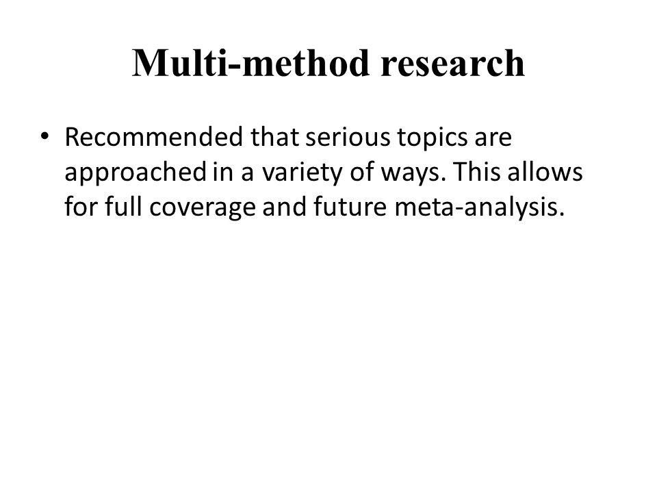 Multi-method research