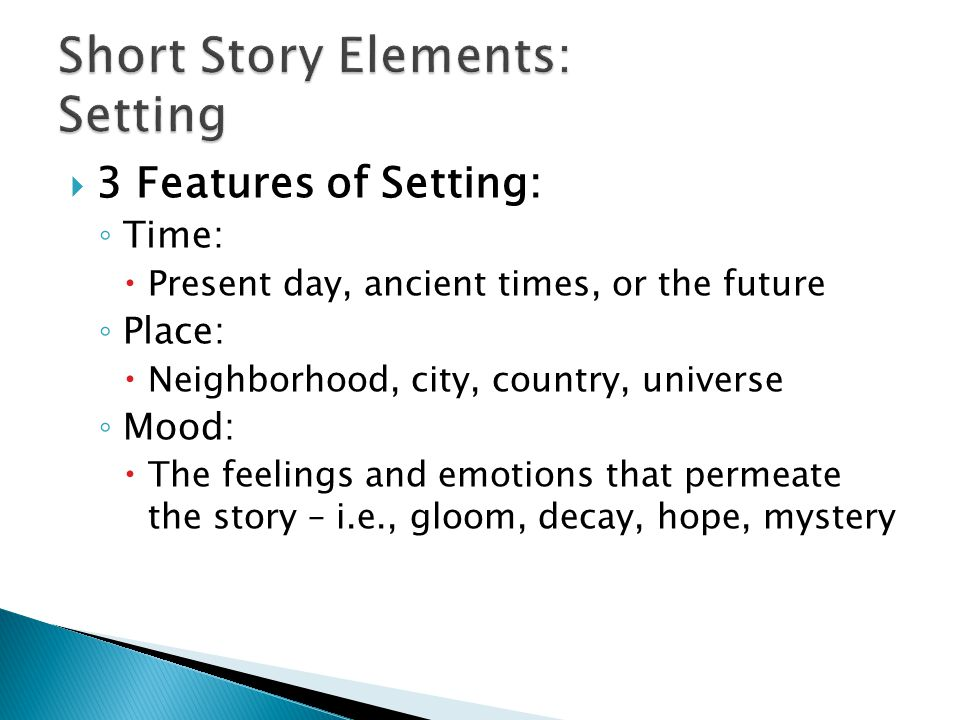 Short Story Elements: Setting
