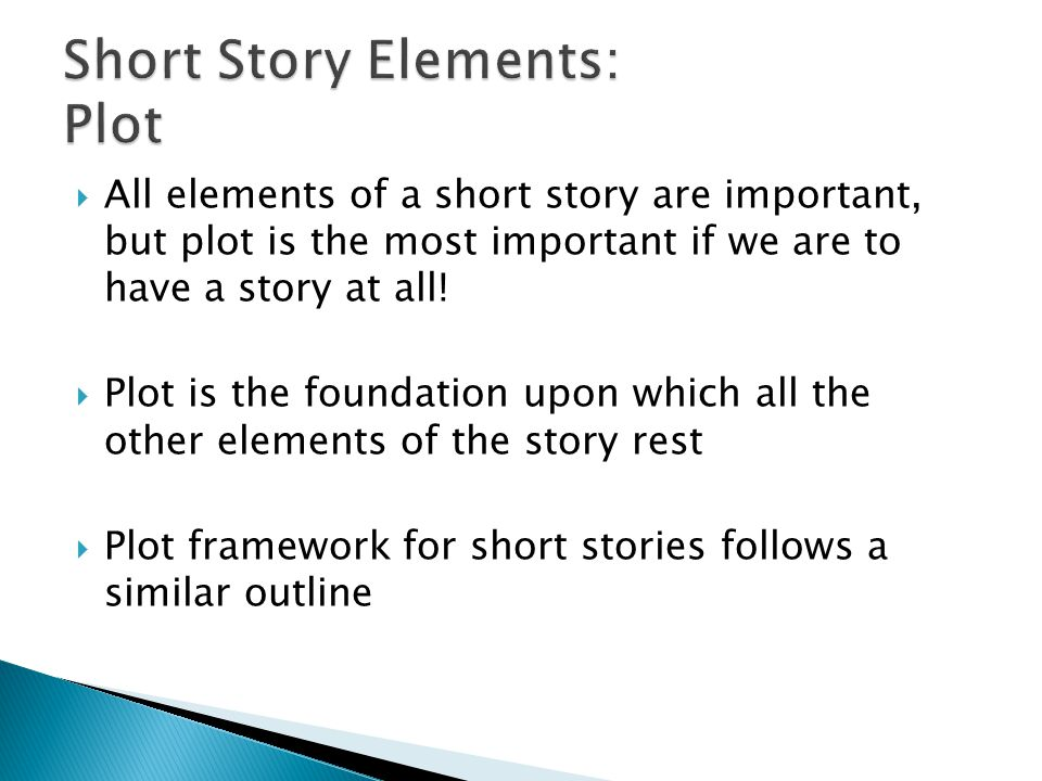 Short Story Elements: Plot