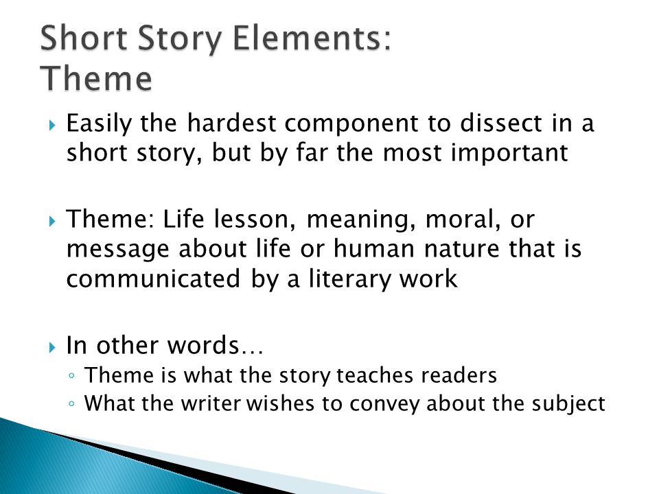 Short Story Elements: Theme
