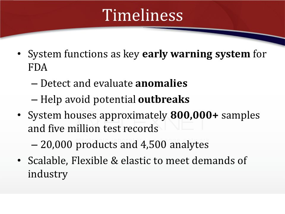 Timeliness System functions as key early warning system for FDA