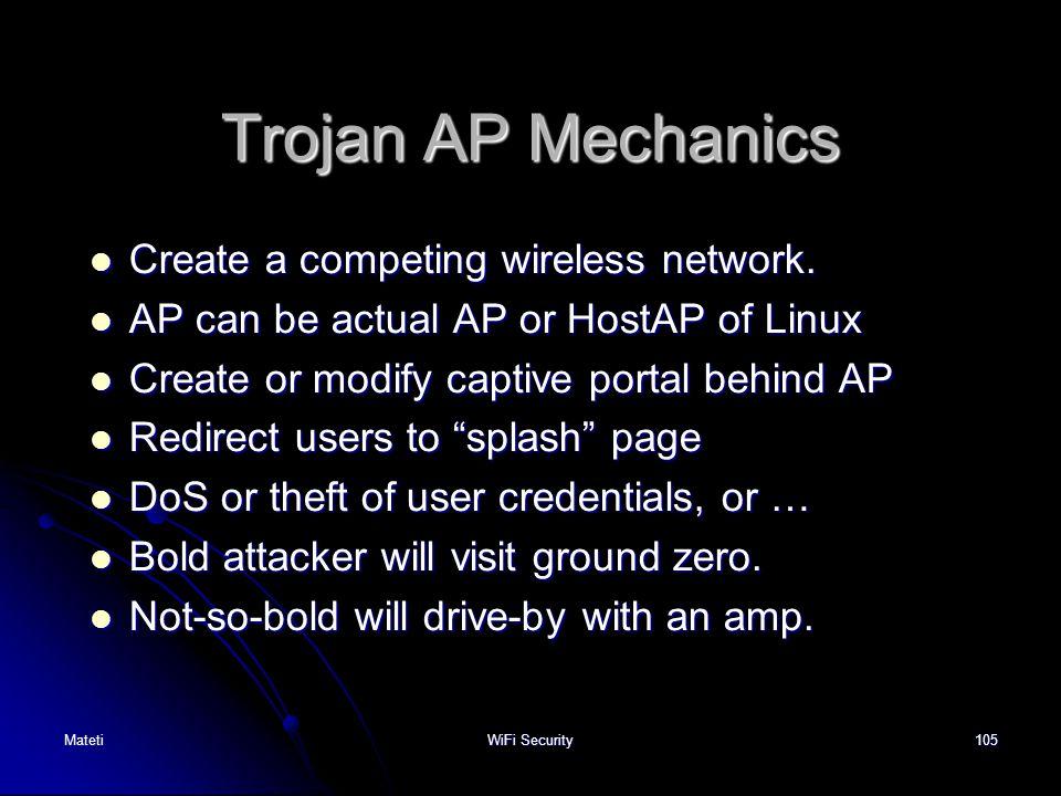 Trojan AP Mechanics Create a competing wireless network.