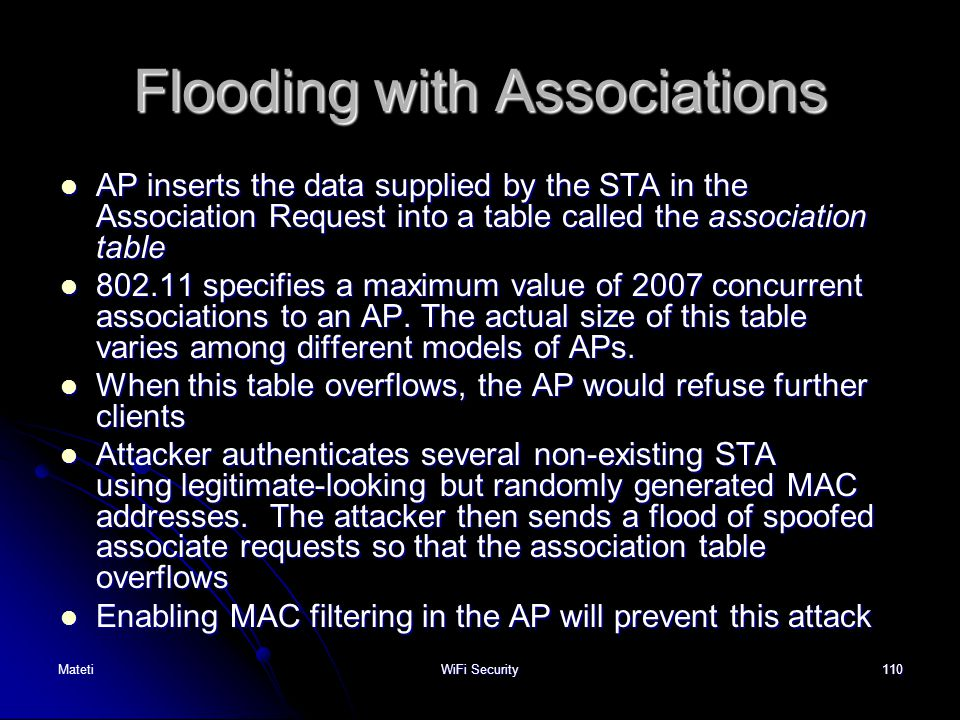 Flooding with Associations