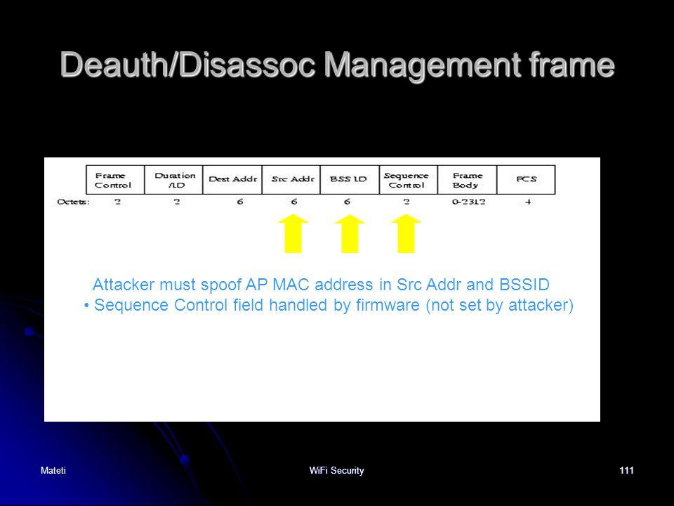 Deauth/Disassoc Management frame