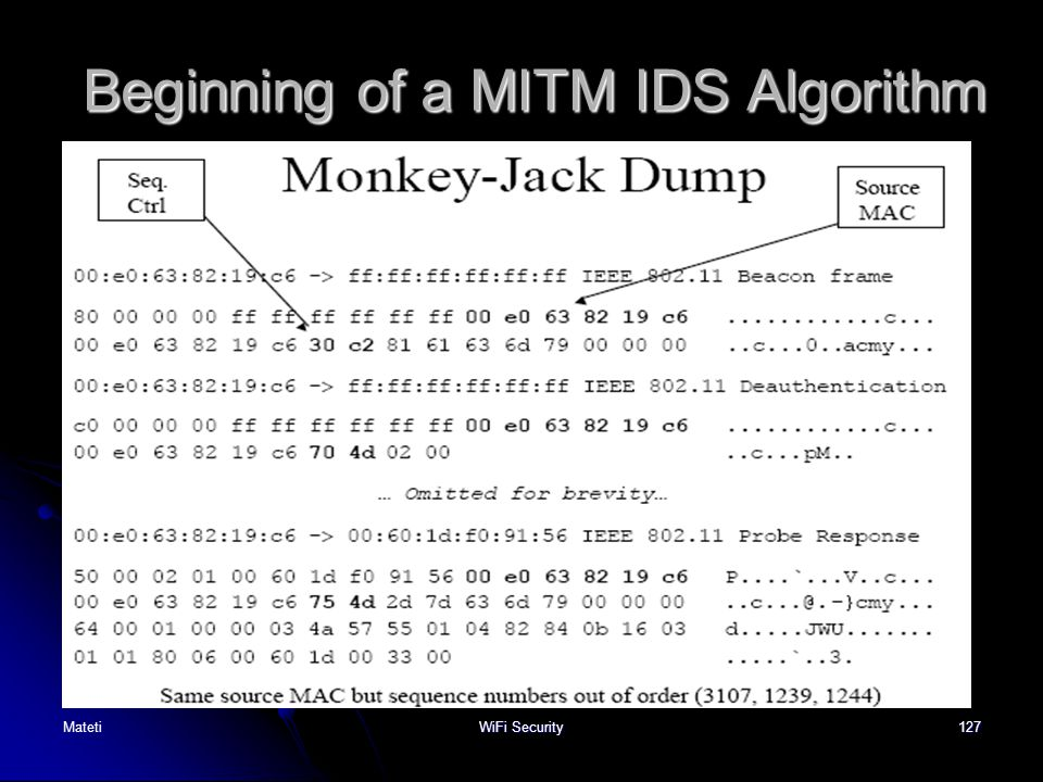 Beginning of a MITM IDS Algorithm