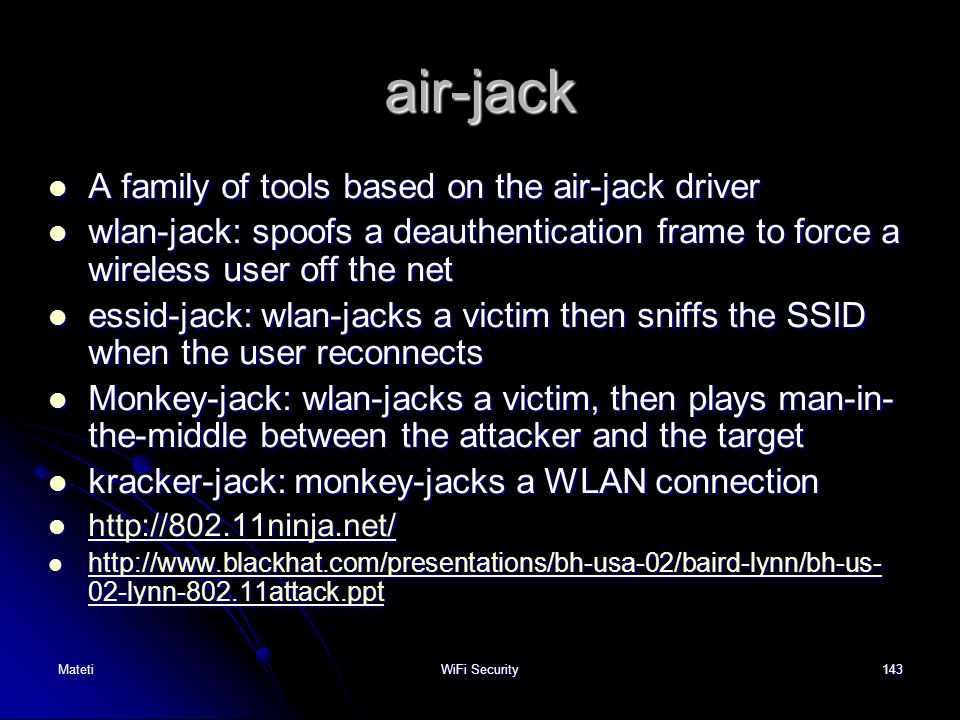 air-jack A family of tools based on the air-jack driver